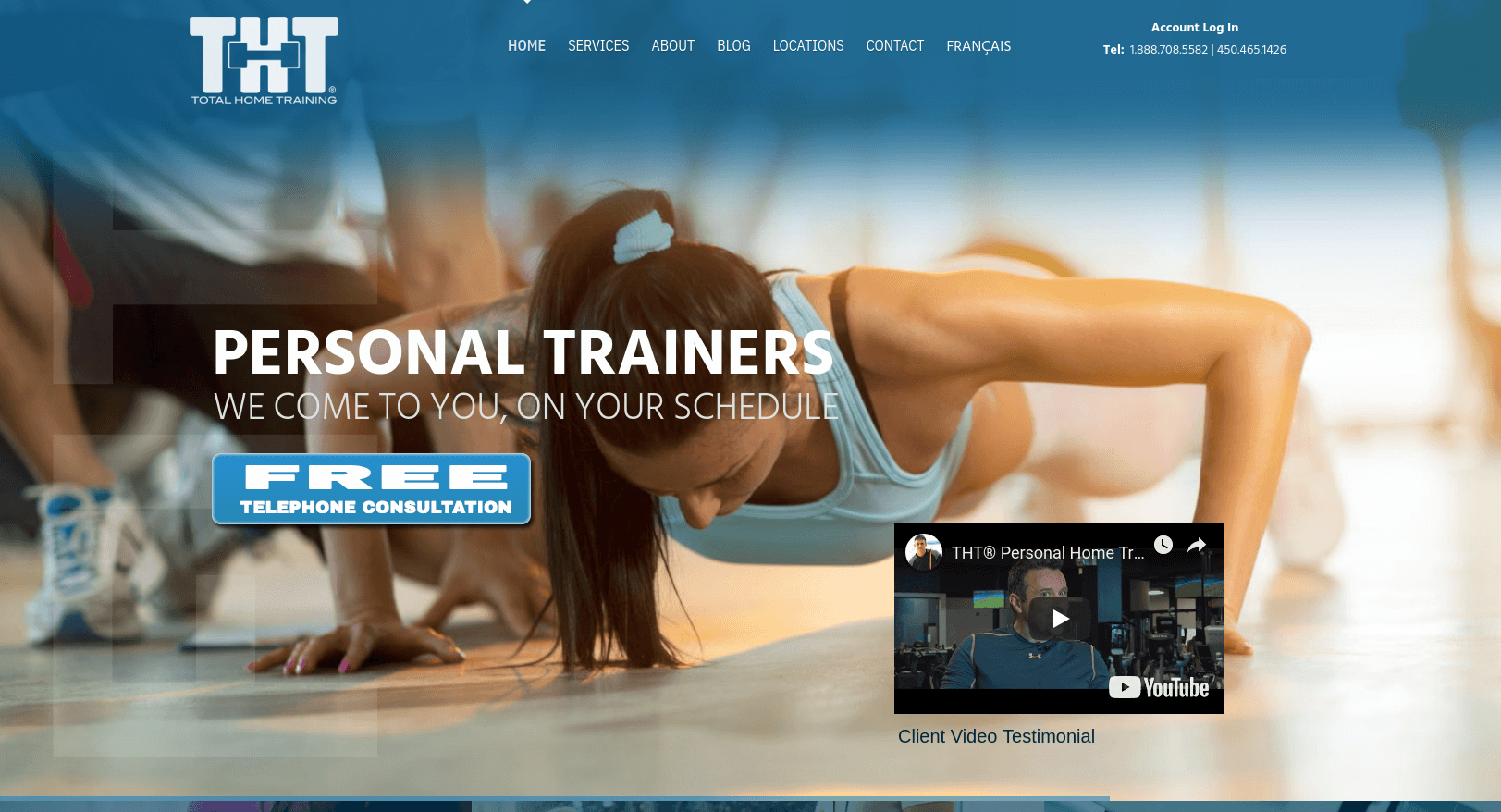 Home Fitness Website
