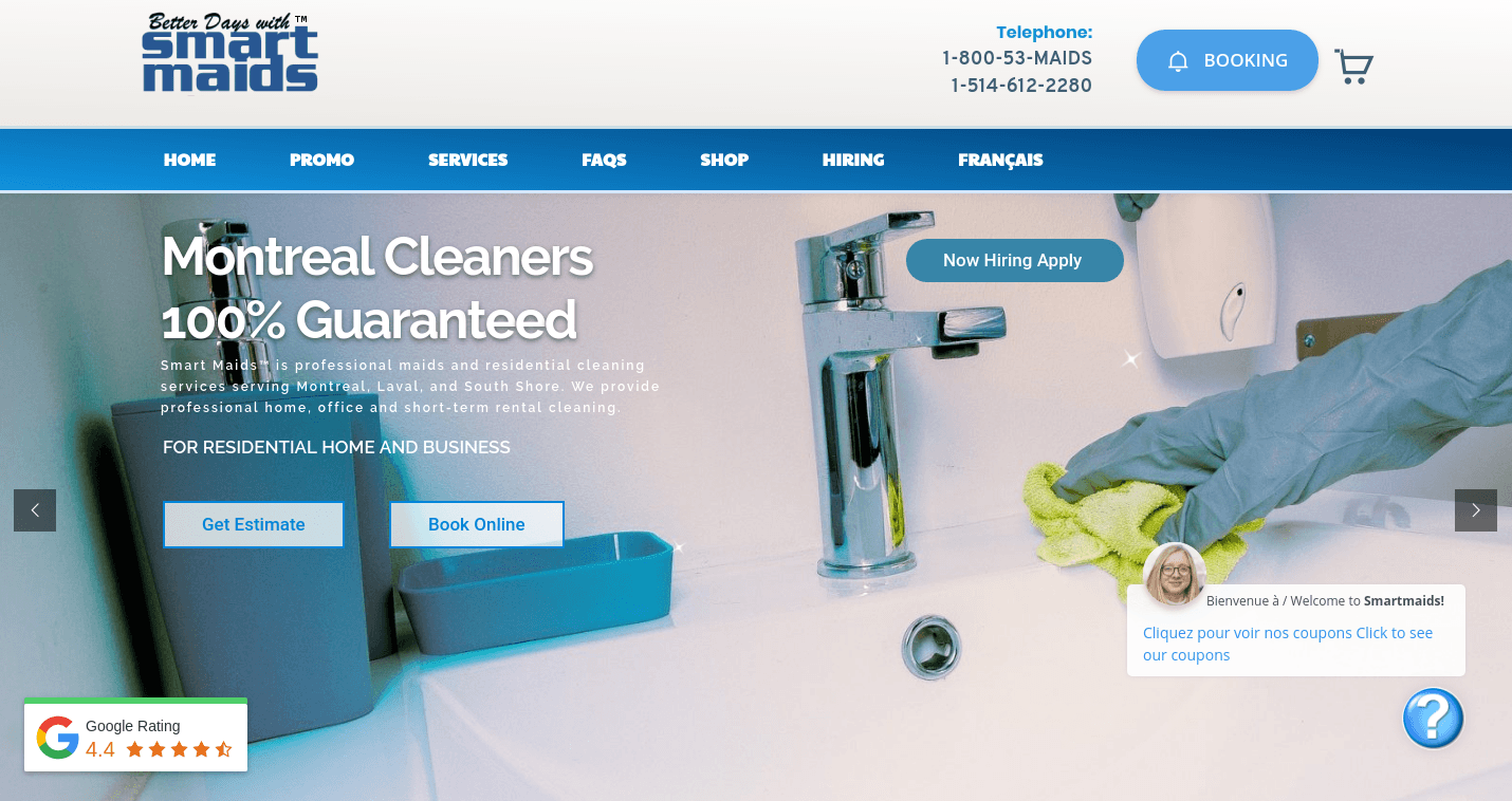 Home Cleaning Services Website