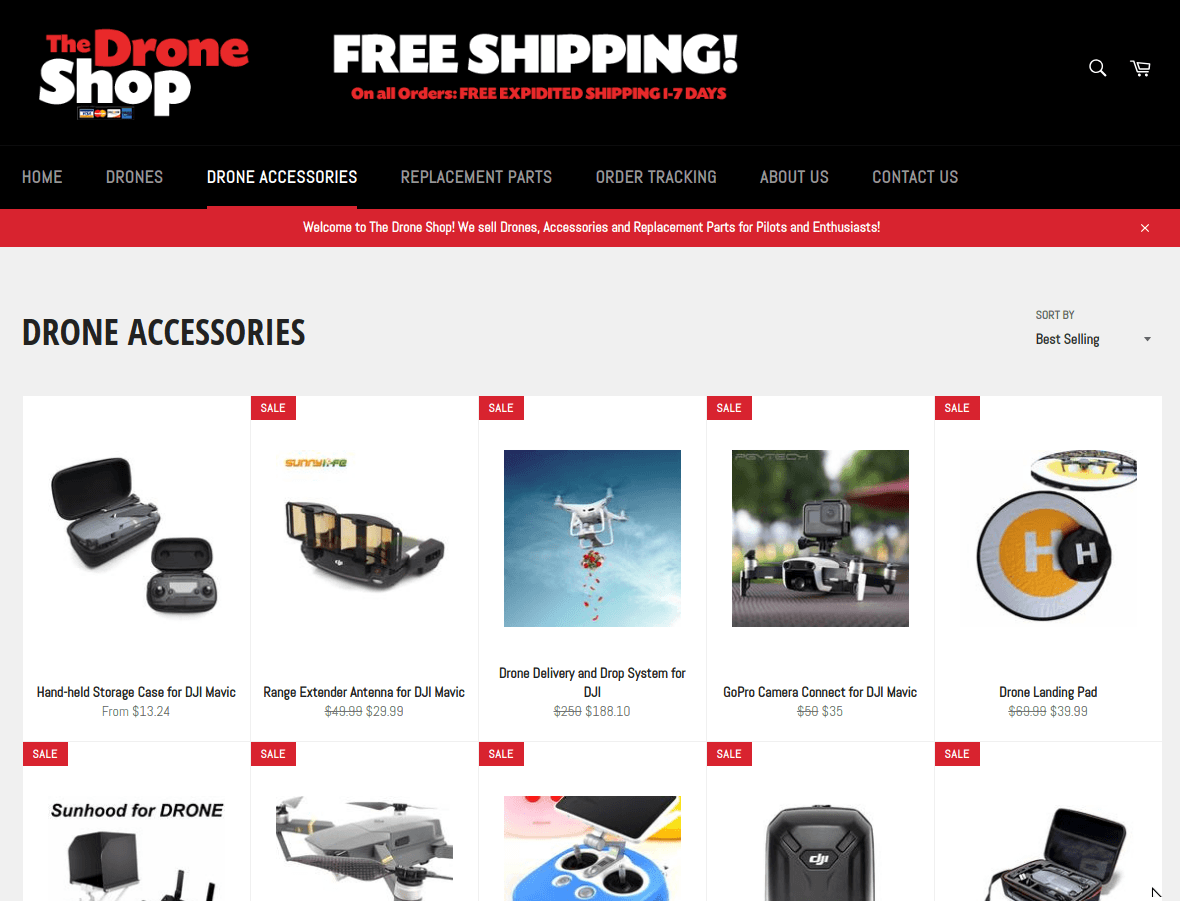 The Drone Shop on Shopify