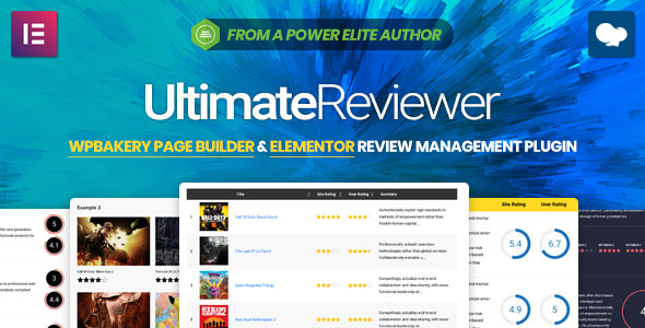 Ultimate Reviewer - Elementor & WPBakery Page Builder Addon